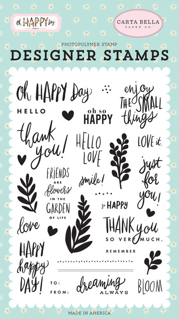 Oh Happy Day: Happy Happy Day Stamp Set