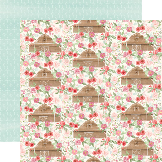 Farmhouse Market: Barn Floral 12x12 Patterned Paper