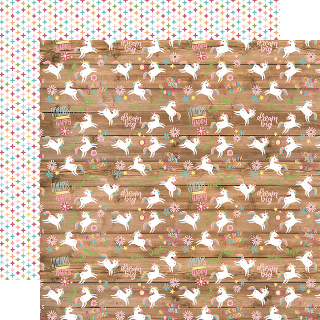 All Girl: Happy Unicorns 12x12 Patterned Paper
