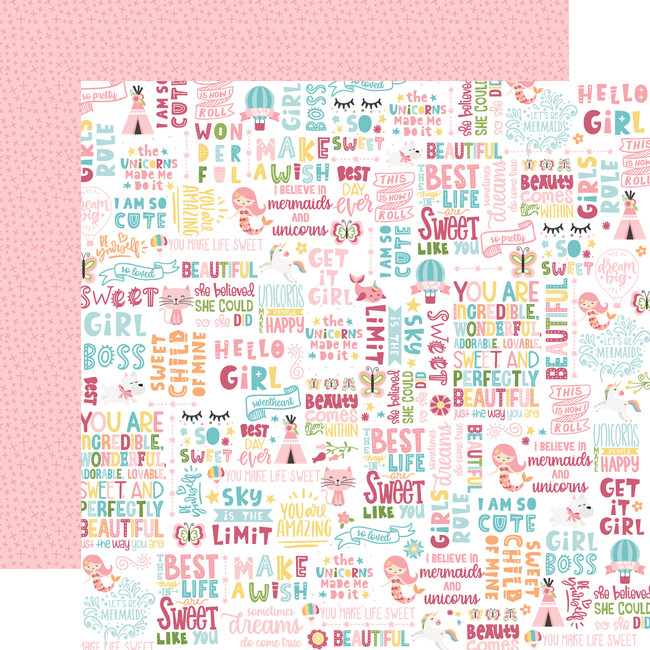 All Girl: Hello Girl 12x12 Patterned Paper