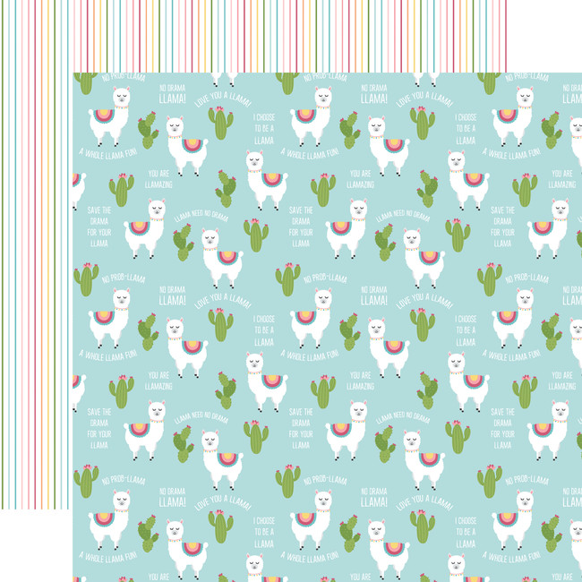 All Girl: No Prob-Llama 12x12 Patterned Paper
