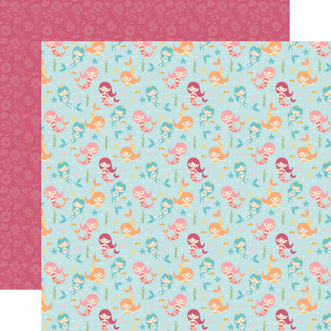 All Girl: Magical Mermaids 12x12 Patterned Paper