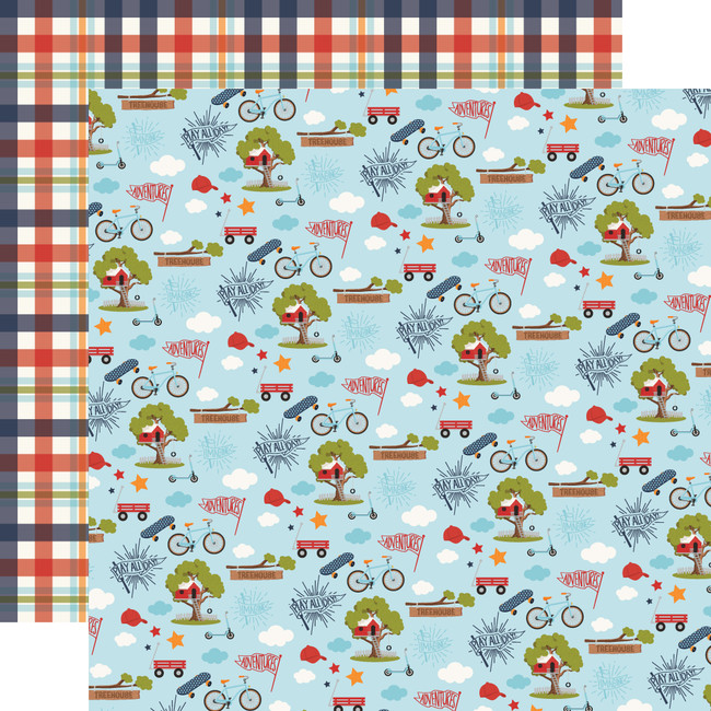 All Boy: Play All Day 12x12 Patterned Paper