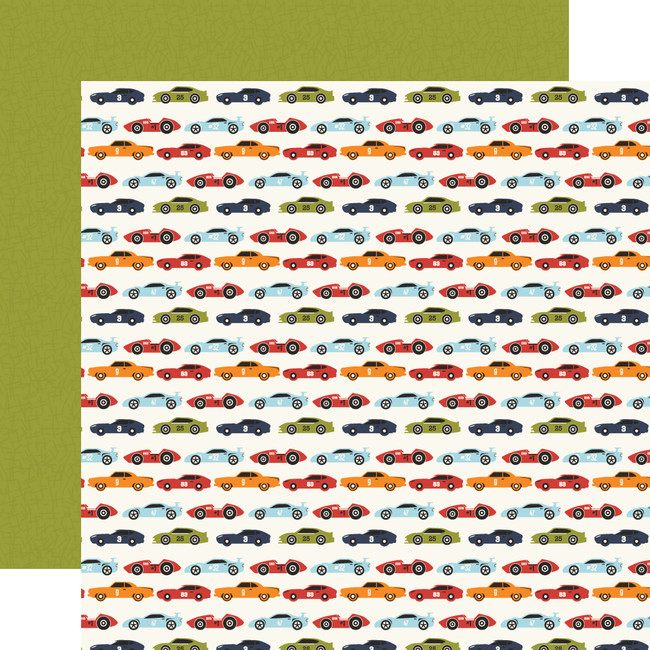 All Boy: Race Car Lanes 12x12 Patterned Paper