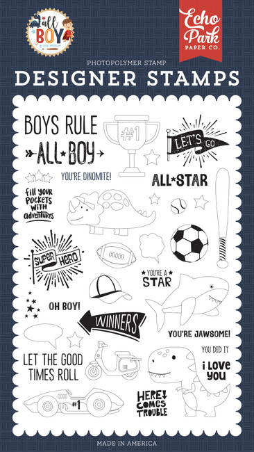 All Boy: You're A Star Stamp Set