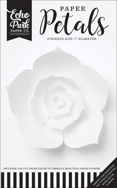 Paper Petals: Small White Dahlia