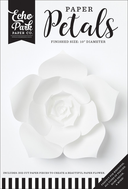 Paper Petals: Medium White Dahlia