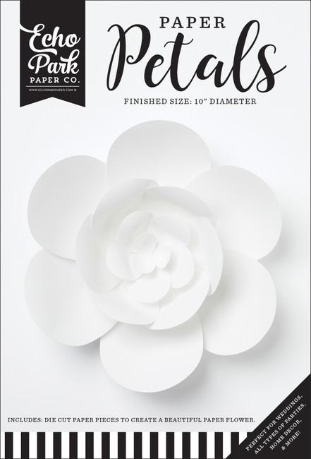 Paper Petals: Medium White Peony