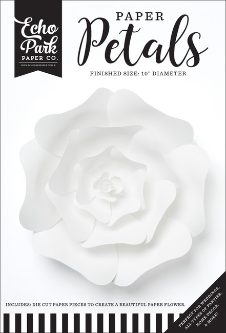 Paper Petals: Medium White Rose
