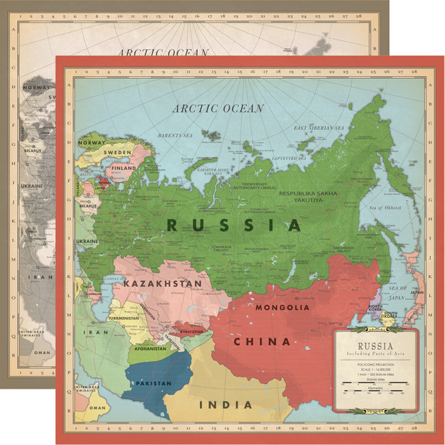 Cartography No. 2: Russia Map