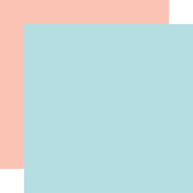 Cartography No. 2: Light Blue/Light Pink Solid
