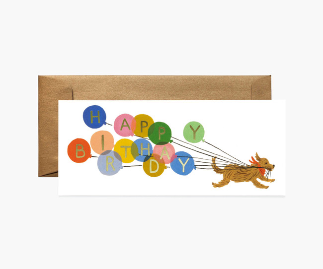 Rifle Paper Co: Birthday Balloon No. 10 Card