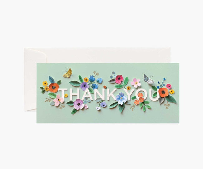 Rifle Paper Co: Cut Paper Thank You Card