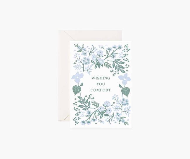 Rifle Paper Co: Indigo Sympathy Card