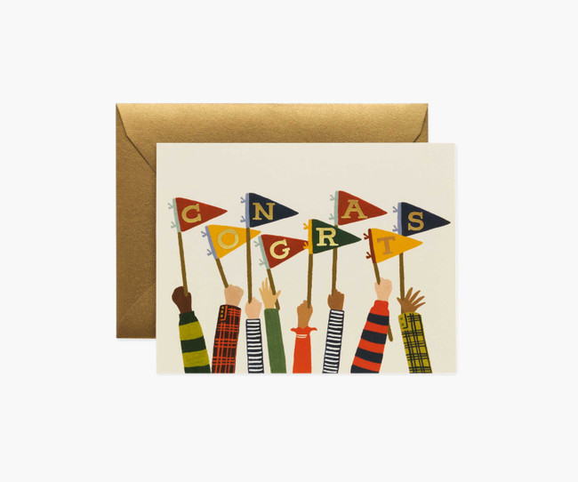 Rifle Paper Co: Congrats Pennants Card