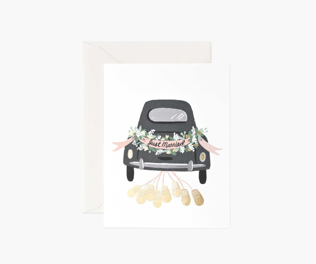 Rifle Paper Co: Just Married Getaway Card