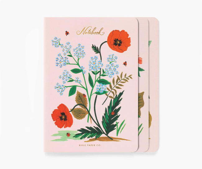 Rifle Paper Co: Botanical Set of 3 Notebooks