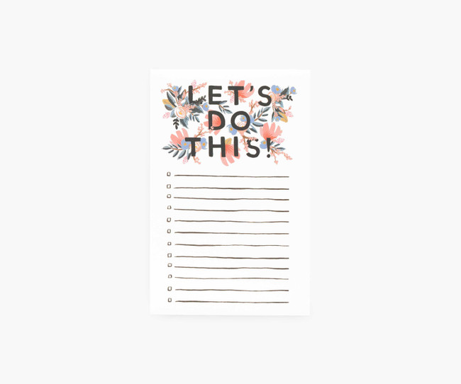 Rifle Paper Co: Let's Do This Notepad
