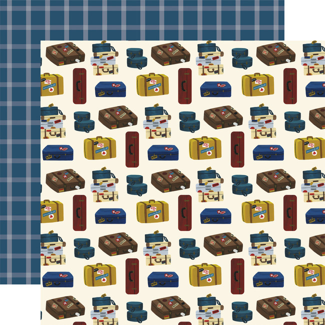 Scenic Route: Luggage 12x12 Patterned Paper
