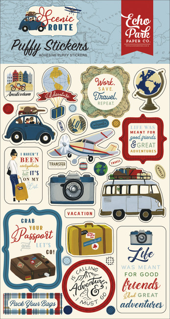 Scenic Route: Puffy Stickers
