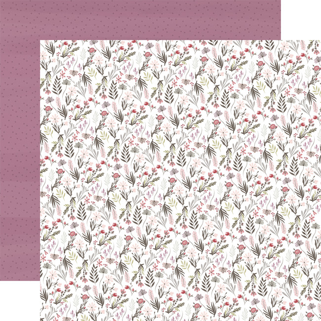 Flora No. 3: Elegant Small Floral 12x12 Patterned Paper