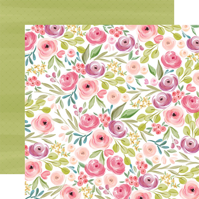 Flora No. 3: Bright Large Floral 12x12 Patterned Paper