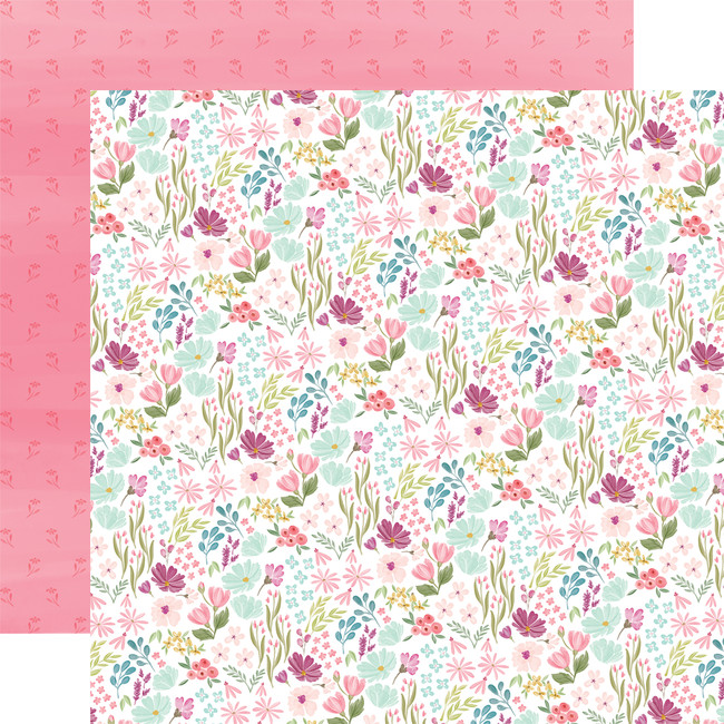 Flora No. 3: Bright Small Floral 12x12 Patterned Paper