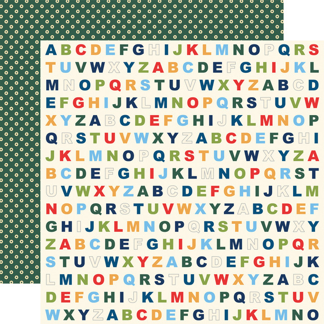 School Days: Alphabet 12x12 Patterned Paper