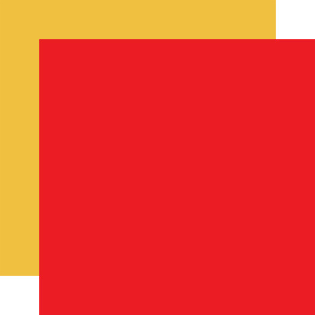 School Days: Red/Yellow 12x12 Solid Paper