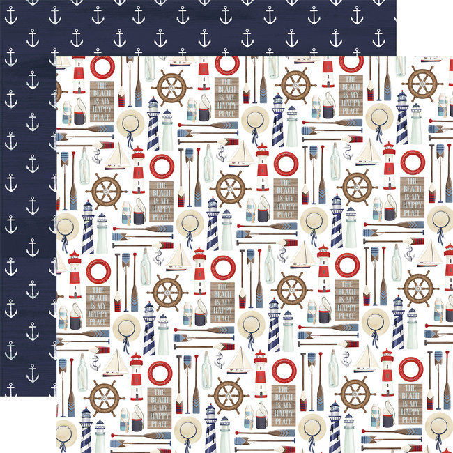 By The Sea: Set Sail 12x12 Patterned Paper