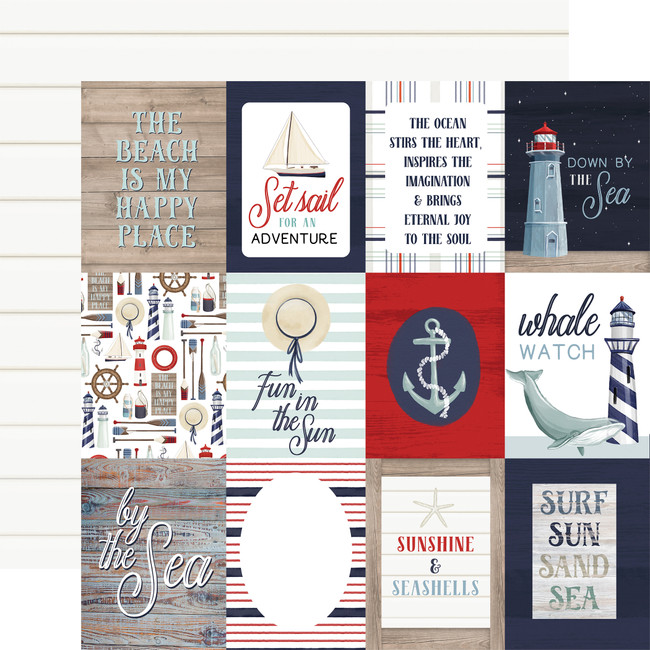 By The Sea: 3x4 Journaling Cards 12x12 Patterned Paper
