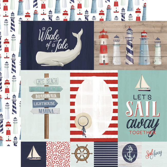 By The Sea: Journaling Cards 12x12 Patterned Paper