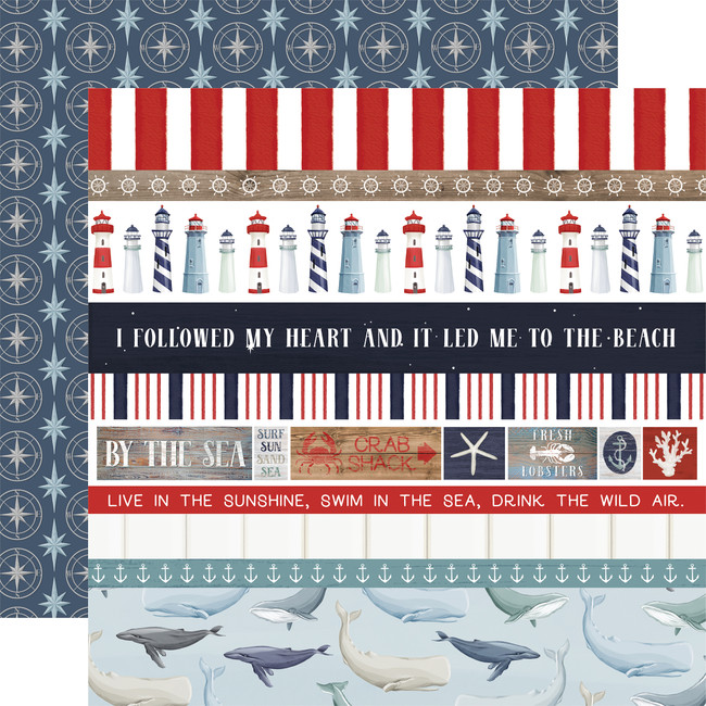 By The Sea: Border Strips 12x12 Patterned Paper
