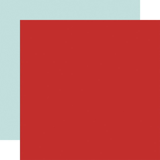 By The Sea: Designer Solids - Red/Sky Blue 12x12 Patterned Paper
