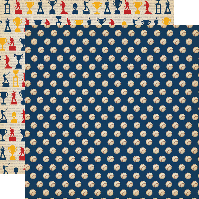 Baseball: Play Ball 12x12 Patterned Paper