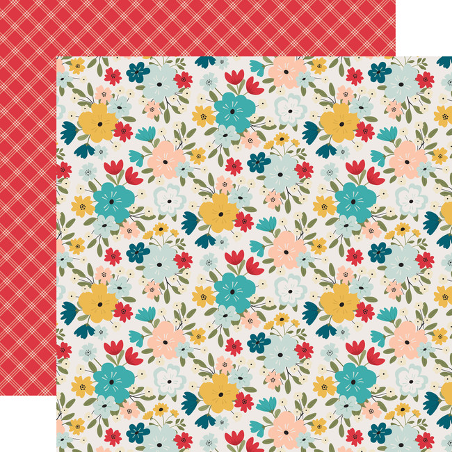 Farmhouse Kitchen: Farmhouse Floral 12x12 Patterned Paper