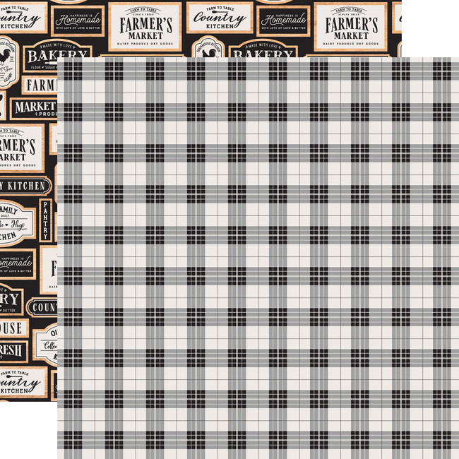 Farmhouse Kitchen: Picnic Plaid 12x12 Patterned Paper