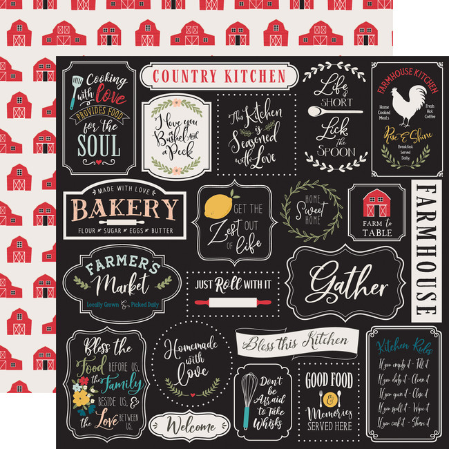 Farmhouse Kitchen: Kitchen Rules 12x12 Patterned Paper