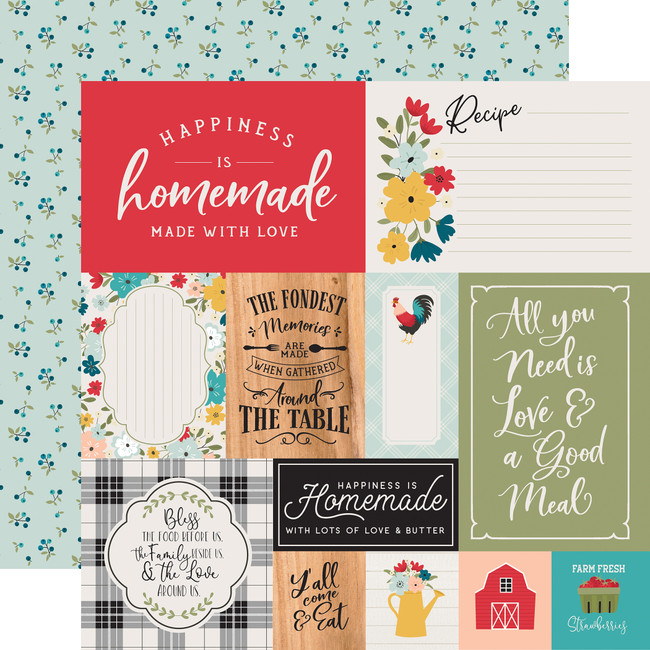 Farmhouse Kitchen: Multi Journaling Cards 12x12 Patterned Paper