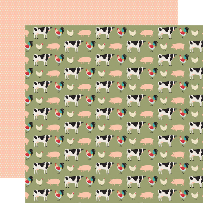 Farmhouse Kitchen: Farmhouse Friends 12x12 Patterned Paper
