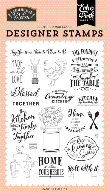 Farmhouse Kitchen: Made with Love Stamp Set