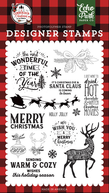 A Lumberjack Christmas: Warm and Cozy Wishes Stamp Set