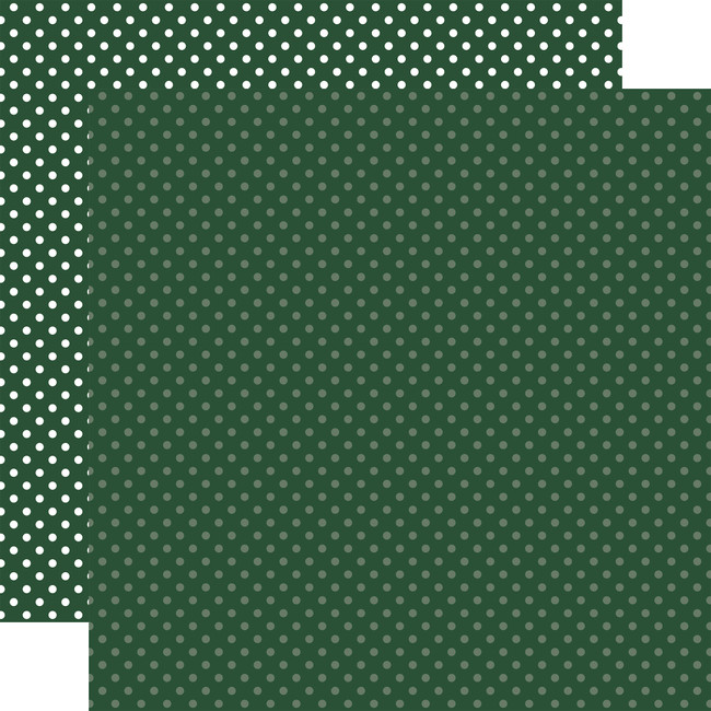 Christmas Dots & Stripes: Evergreen Dots