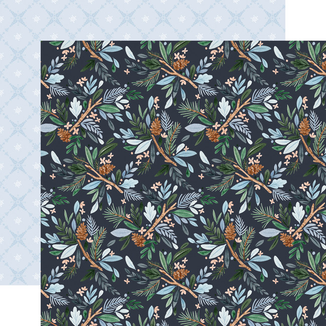 Winter Market: Winter Floral 12x12 Patterned Paper