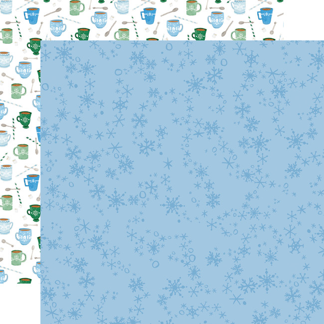 Winter Market: Swirly Snowflakes 12x12 Patterned Paper