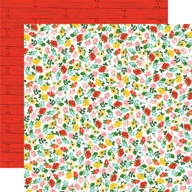 Farm To Table: Floral Frenzy 12x12 Patterned Paper