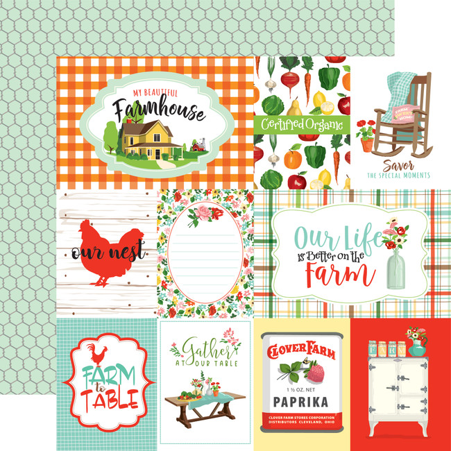 Farm To Table: Journaling Cards 12x12 Patterned Paper