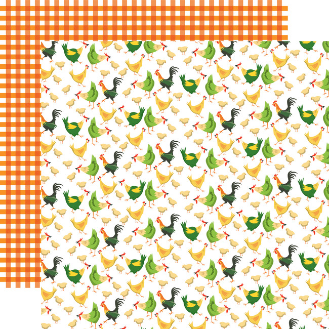 Farm To Table: Chicken Coop 12x12 Patterned Paper