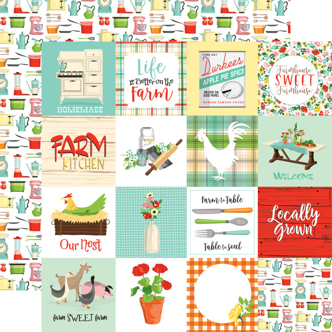 Farm To Table: 3x3 Journaling Cards 12x12 Patterned Paper