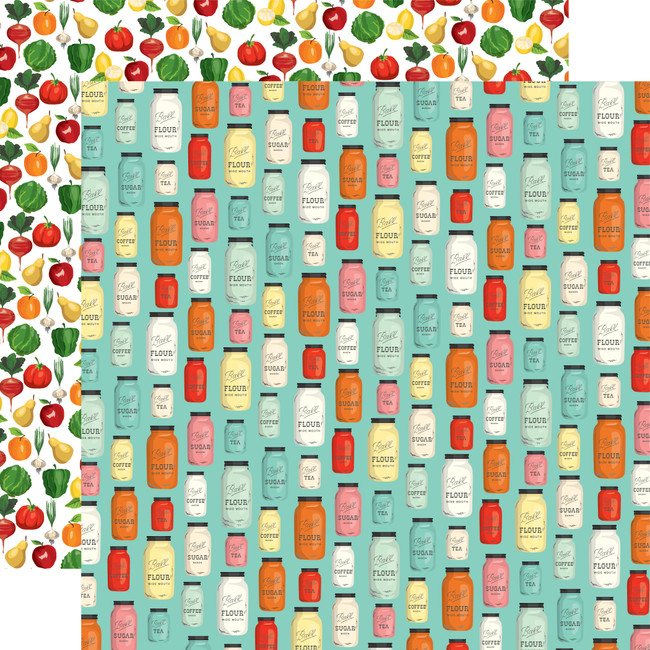 Farm To Table: Mason Jar Madness 12x12 Patterned Paper
